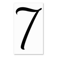 Number 7 Signature Sign Tile