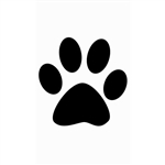 Paw Print Signature Sign Tile