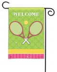 Time for Tennis Decorative Flag