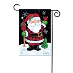 Buffalo Check Santa Decorative Flag