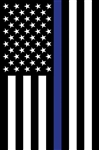 "Thin Blue Line Applique Flag Garden - 12"" X 18"""