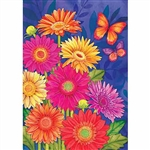 Glorious Gerberas Decorative Flag