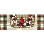 Cardinal Cotton Wreath Signature Sign