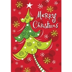 Whimsy Christmas Tree Decorative Flag