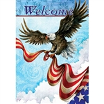 Patriotic Eagle Decorative Flag