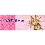 Bunny Wreath Signature Sign