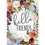 Hello Friends Decorative Flag