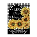 Home Sweet Sunflowers Decorative Flag