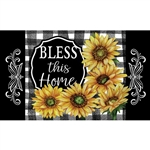 Home Sweet Sunflowers Floormat