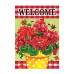 Geranium Gingham Decorative Flag