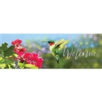 Geranium Hummer Signature Sign