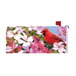 Cardinal Flowers Magnetic Mailbox Cover
