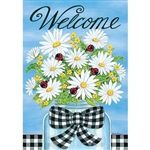 Daisies & Ladybugs Decorative Flag