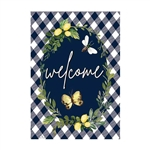 Lemon Welcome Decorative Flag