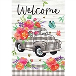 Gingham Truck Decorative Flag