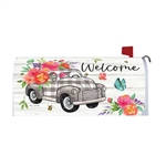 Gingham Truck Magnetic Mailbox Cover