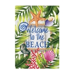 Beach Welcome Decorative Flag