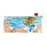 Mermaid Seahorse Magnetic Mailbox Cover