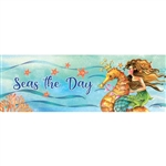 Mermaid Seahorse Signature Sign