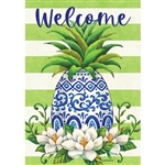 Pineapple Magnolia Decorative Flag