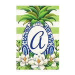 "Pineapple Magnolia Monogram ""A"" Garden Flag"