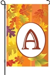 Fall Monogram A Garden Flag