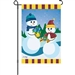 Dating On A Snowy Slope Decorative Flag