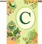 "Spring Monogram Letter ""C"" Decorative Flag"