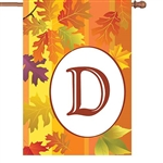 "D Fall Monogram Letter ""D"" Decorative - Standard 28"" x 40""  <span style=""color:#cc0000;"">
