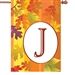 "J Fall Monogram Letter ""J"" Decorative - Standard 28"" x 40""  <span style=""color:#cc0000;"">