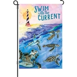 Swim With The Current Decorative Flag