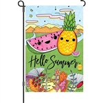 "HELLO SUMMER Garden Size Flag - 12"" x 18"""