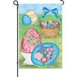 Elegant Easter Eggs Decorative Flag