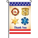 First Responders Garden Size Flag