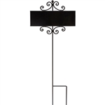 Signature Sign Wrought Iron Post