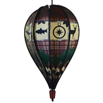 Rustic Lodge Hot Air Balloon Spinner