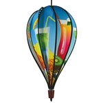 Tropical Drinks Hot Air Balloon Spinner