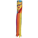 "40"" Rainbow Sun Applique Windsock"