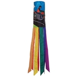 "40"" Motorcycle Man Applique Windsock"