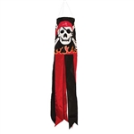 "30"" Skull 'N Flames Windsock"