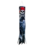 "30"" Smoking Pirate Windsock"