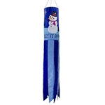 "40"" Let It Snow Applique Windsock"