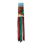 "40"" Merry Christmas Applique Windsock"