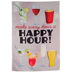 Happy Hour Drinks Decorative Flag