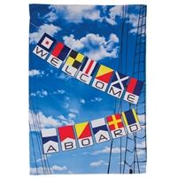 Welcome Aboard Decorative Flag