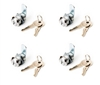 4-pack CL 943 Cam Lock - Keyed-alike