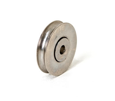 "1-1/2"" Stainless Steel Ball-bearing Rollers, PrimeLine D1694, Slideco, Replacement rollers for sliding glass doors, patio doors, screen doors, Width: 5/16"", Center hole: 1/4"" diameter, Stainless steel wheel"