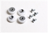 "7/8"" Nylon Oval-Edge Rollers for Sliding Shower Doors (4-pack)"