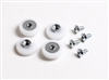 "7/8"" Nylon Flat-Edge Rollers for Sliding Shower Doors (4-pack)"