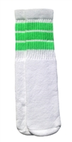 Kids socks with Neon Green stripes